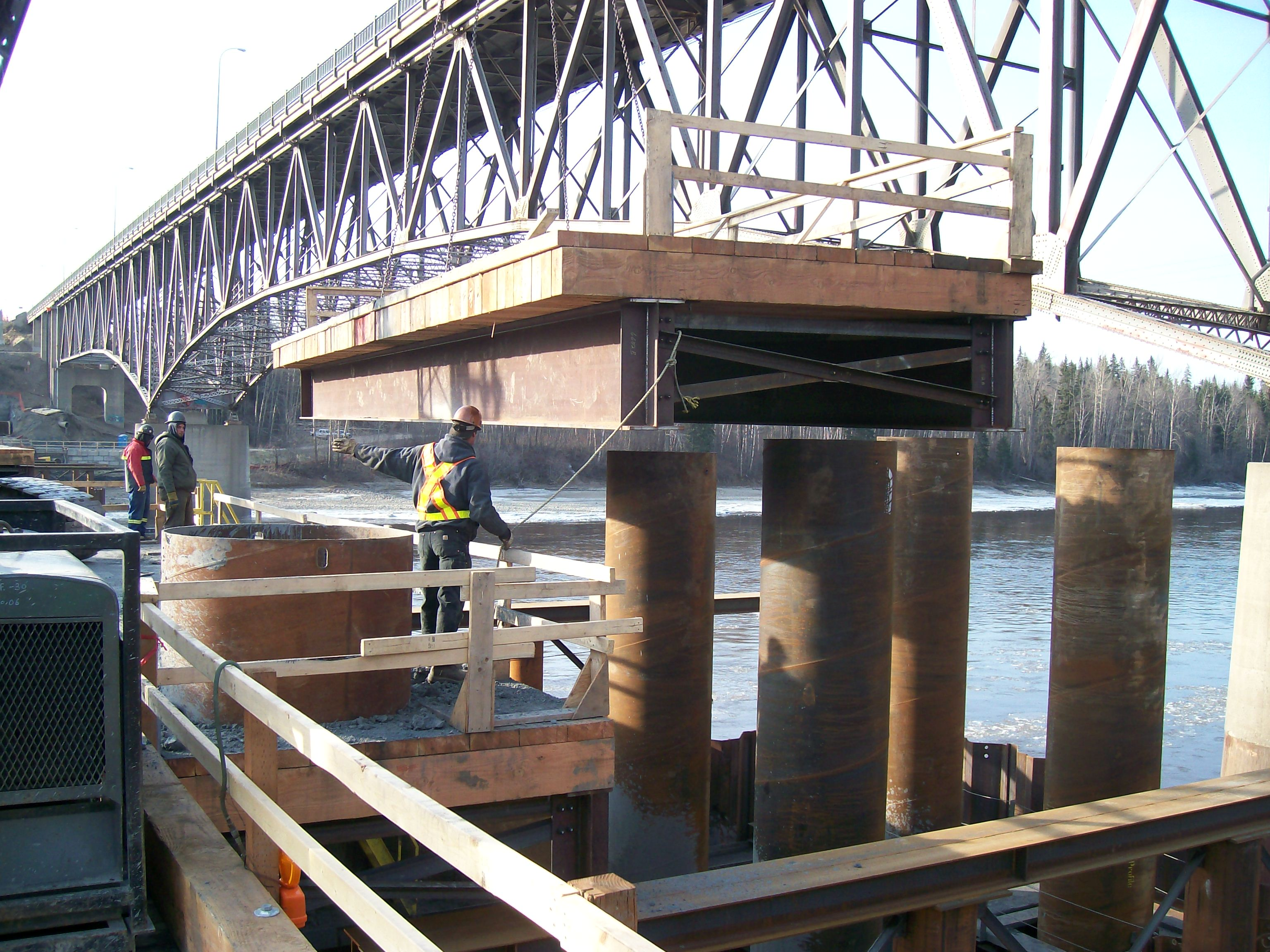 Portable Bridge Construction : Temporary access and work bridges construction drilling