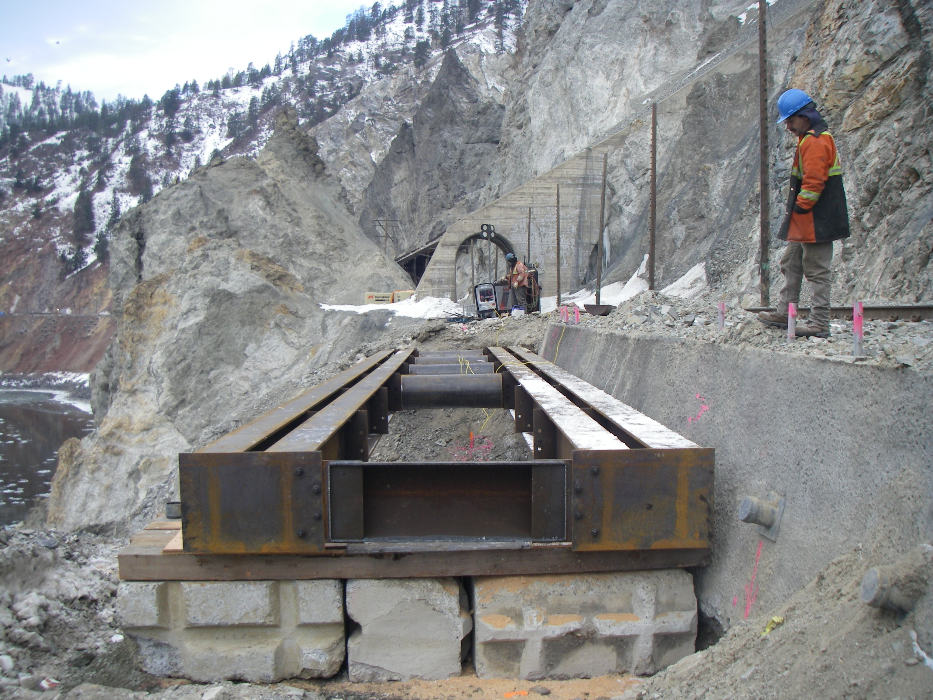 Temporary Construction Roads : Temporary access and work bridges construction drilling