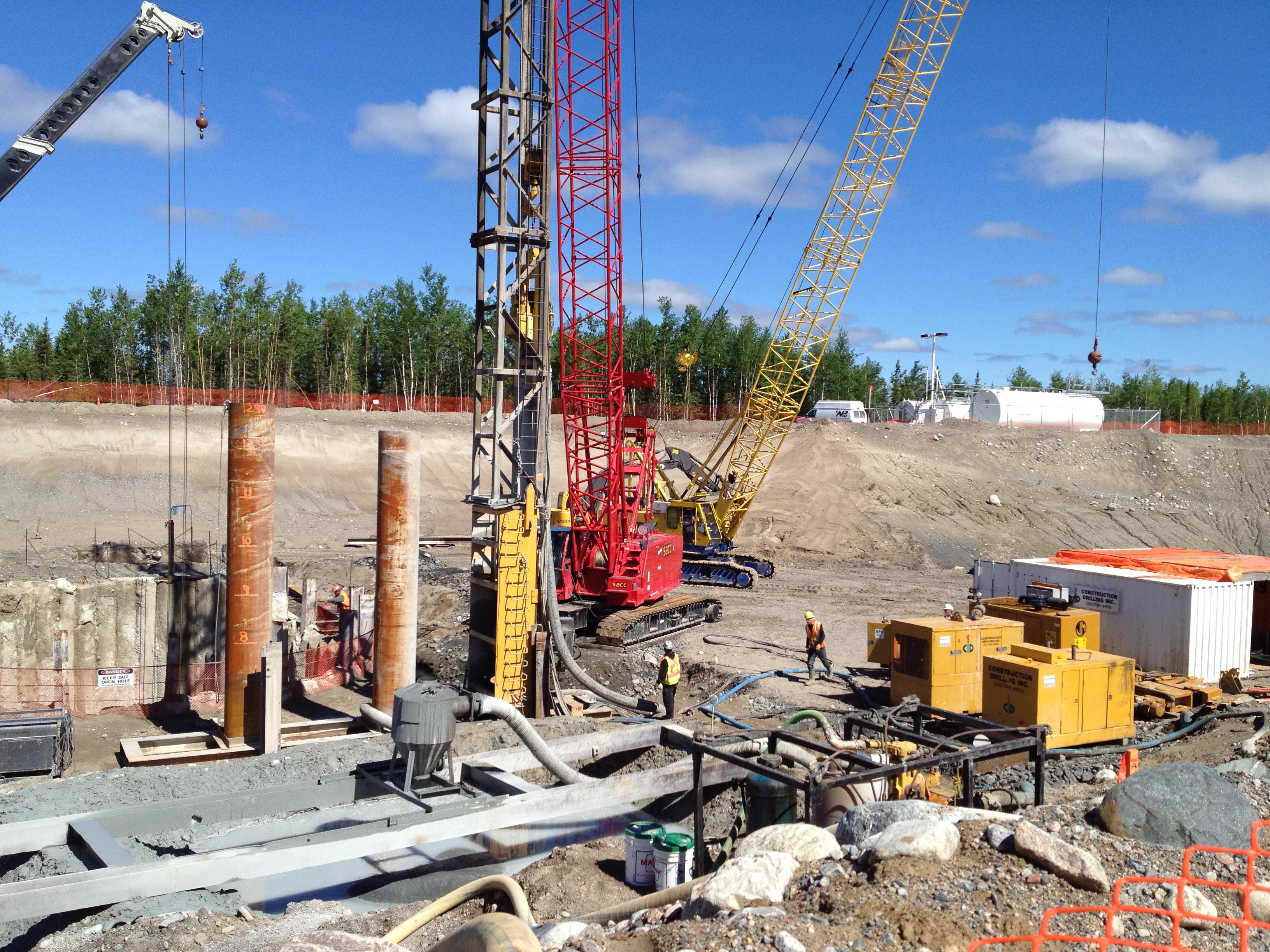 Secant Pile Walls Amp Cofferdams Construction Drilling
